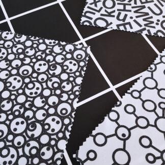 Putsduk med grafiskt mönster