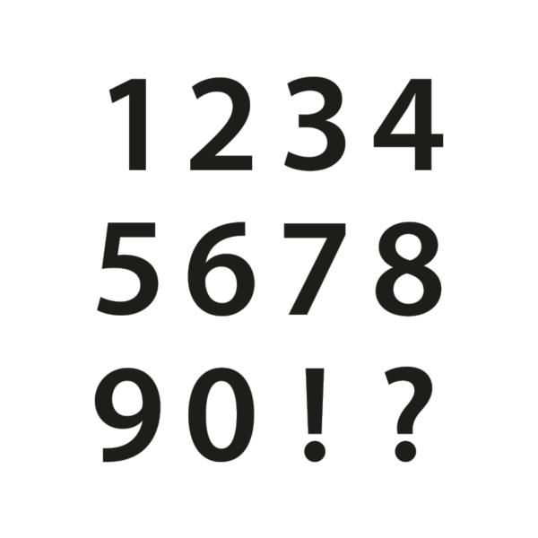 Siffror, 20 cm