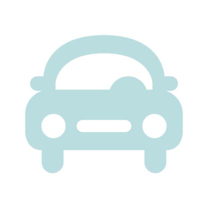 Bil i ljus gråblå