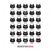 Poster - BokstaVera Katt (30x40 cm)