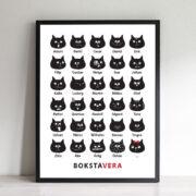 BokstaVera Katt - en poster till nytta och nöje