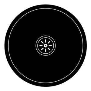 Rund diskho, 21 cm