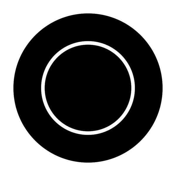 Mikrotallrik i svart