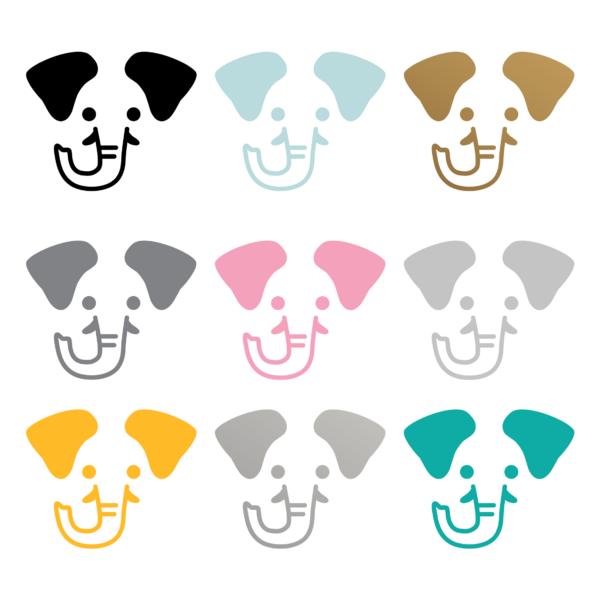Elefanter i flera fina färger
