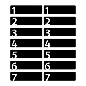 Etiketter 1-7