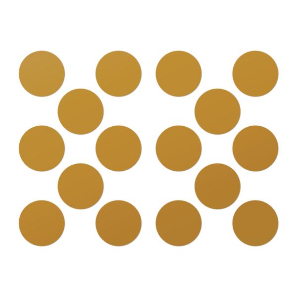 Guldfärgade runda griffeletiketter