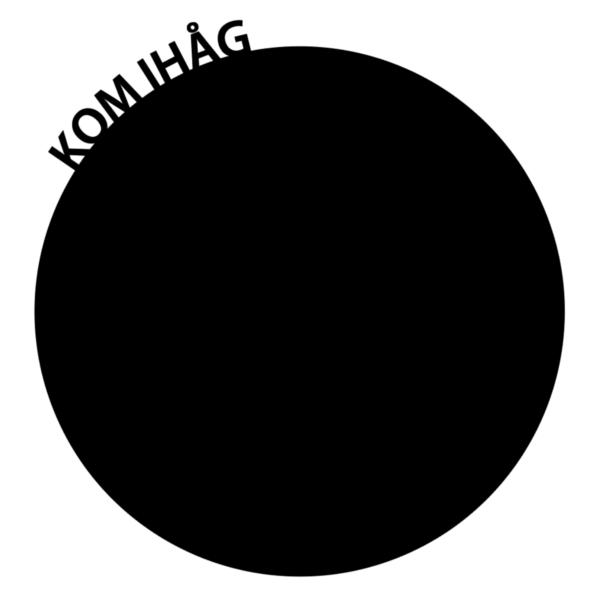 Kom-ihåg-tavla som wallsticker (diameter 20 cm)