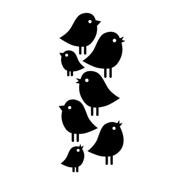 Fåglar som dekaler till möbler och väggar