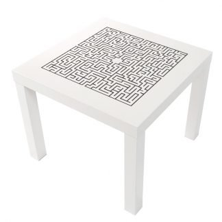 Labyrint på Lack-bord