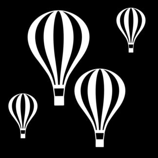 Fönsterdekor, luftballonger