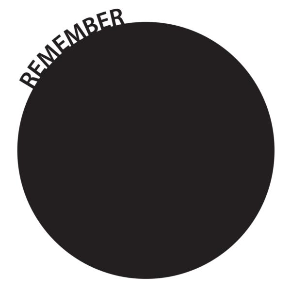 """Kulform kom ihåg-tavla """"Remember"""""""