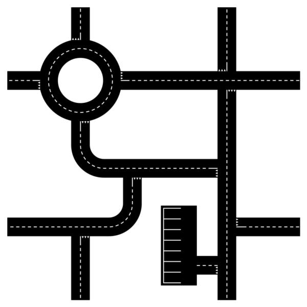 Vägnät (55x55cm)