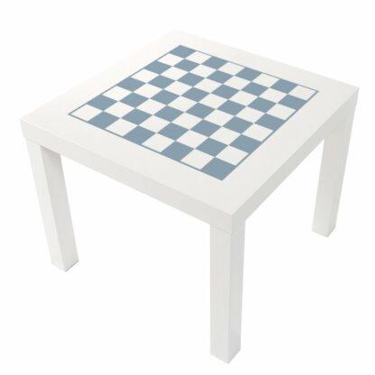 Schack i ljus blå pastell