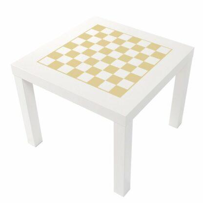 Schack i ljus gul pastell