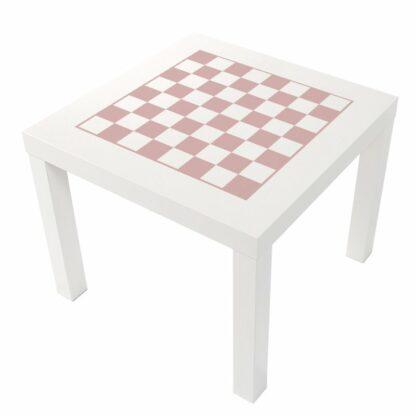 Schack i ljus rosa pastell