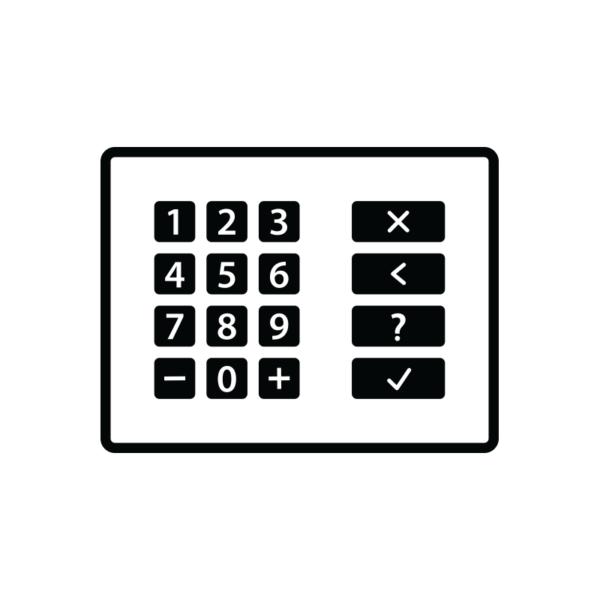 Panel med siffror för att slå in en kod