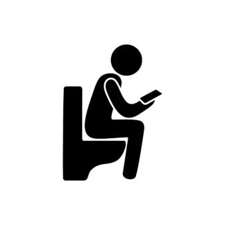 WC-skylt med mobil