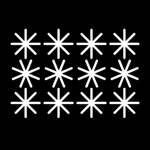 Fönsterdekor, snöflingor