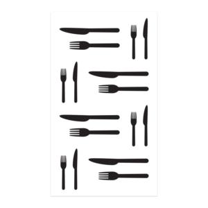 Kniv och gaffel som tatuering