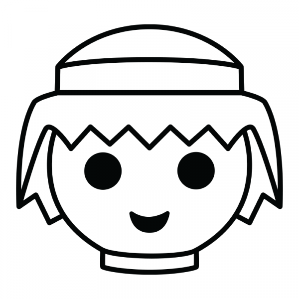Symbol för Playmobil, svart