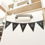 Pennants that can be written upon.