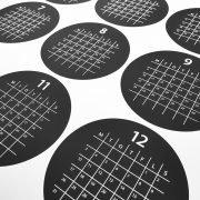 Närbild på Årsplan 2018 - Cirklar