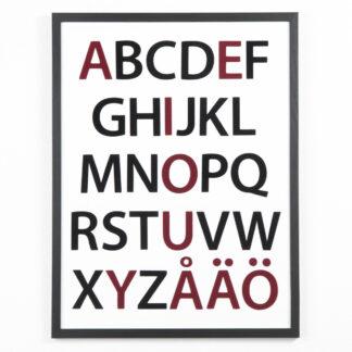 Dynamisk poster med alfabetet