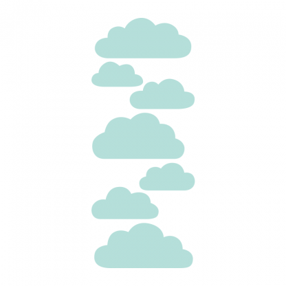 Ljusblå moln