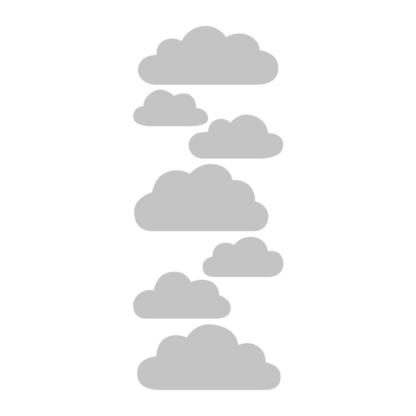 Ljusgrå moln