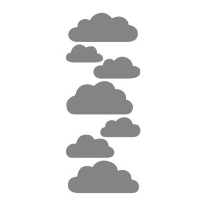 Mörkgrå moln