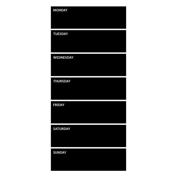 Wallsticker planeringstavla, vecka (27x59 cm)