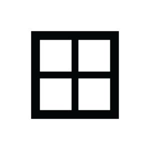 Fönster med fyra rutor