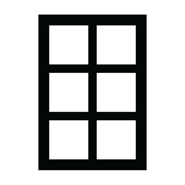 Fönster med sex rutor