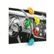 Magnetbilar i glada färger