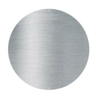 Magnettavla Element, rund, borstat stål (44 cm)