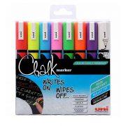 Chalk markers, set med 8 klara färger