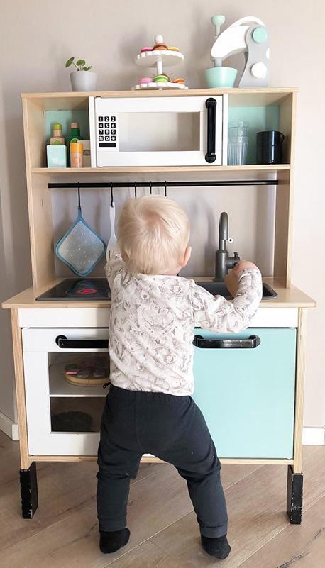 Full fart i fina köket