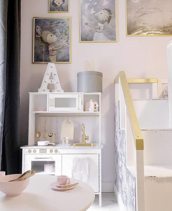 Drömrummet för en liten princessa